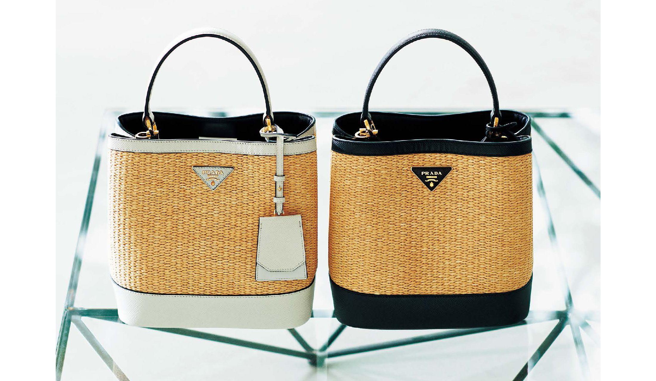online retailer 6f0b2 b1112 プラダの上品な「かごバッグ」は、ONにもOFFにも使える優秀 ...