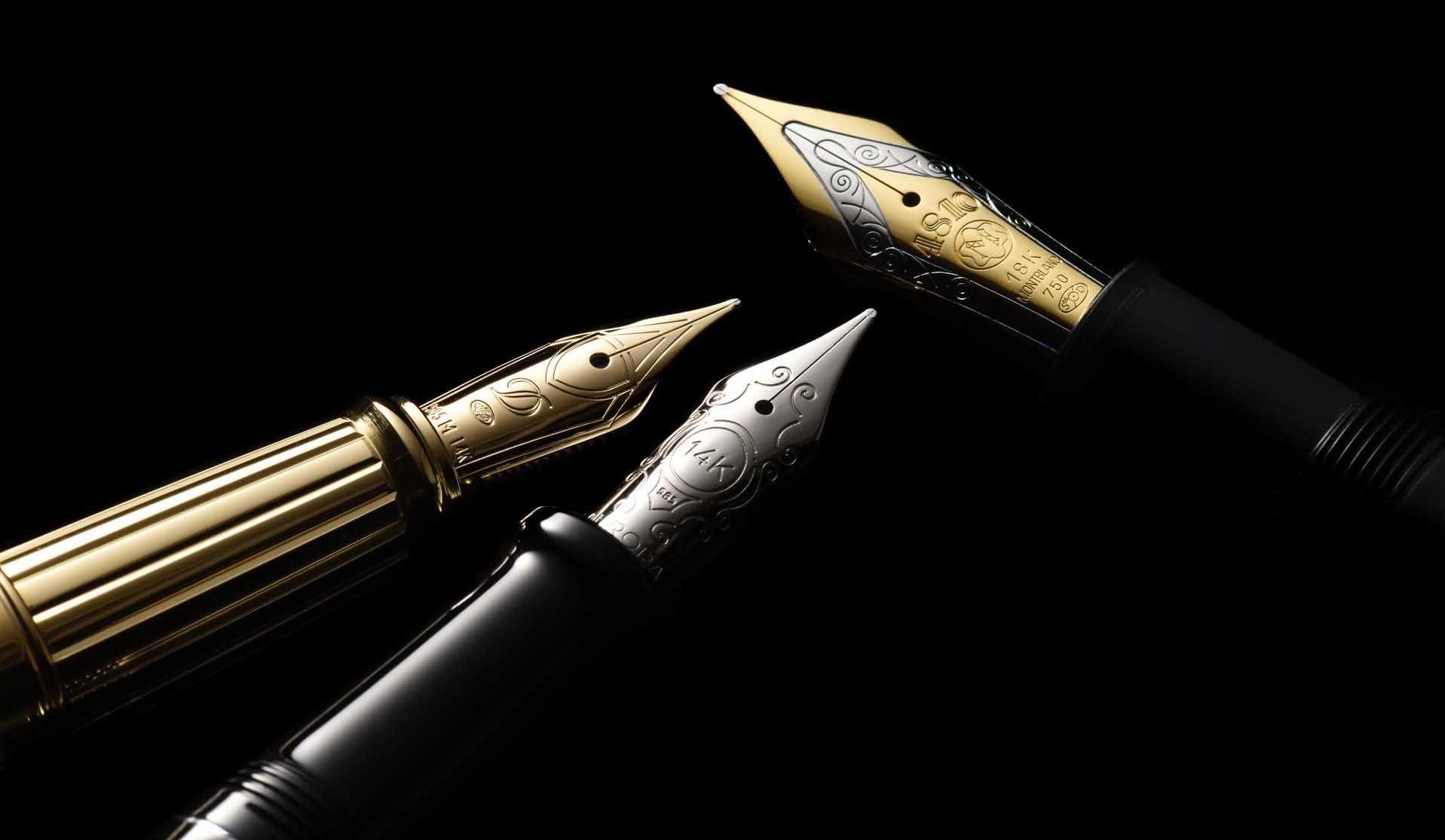 エス・テー・デュポン、モンブラン、アウロラの万年筆