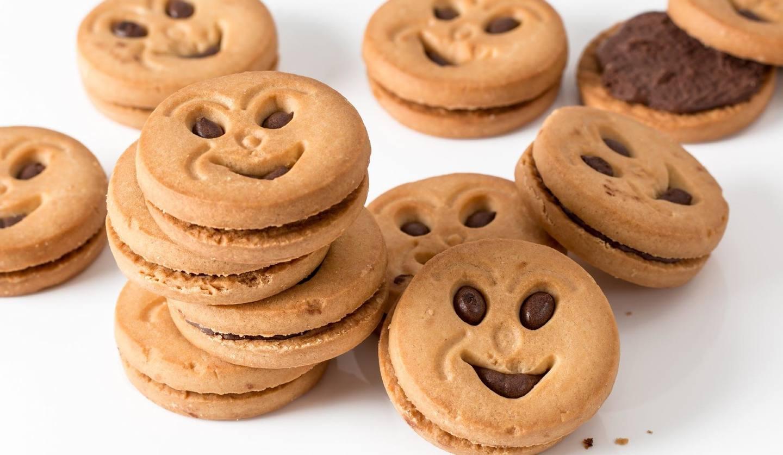 クッキーがたくさん並んでいるところ