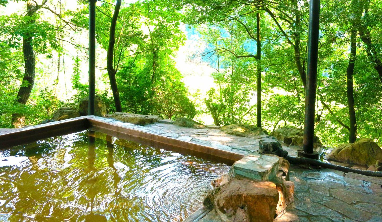 緑が広がる露天風呂