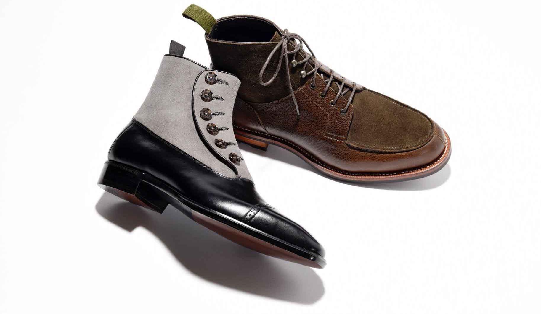シューマニファクチャー オーツカと三陽山長のブーツ