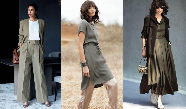 パンツやジャケット、ワンピース!大人のカーキファッションまとめ