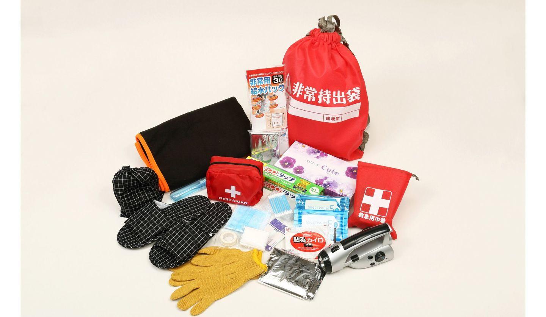 災害のときに役に立つ非常持ち出し袋