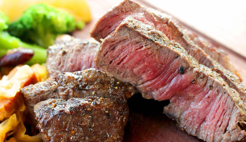 ステーキの断面