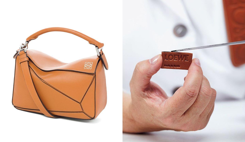 立体的でありながら折りたためる「ロエベ」のバッグ『パズル』