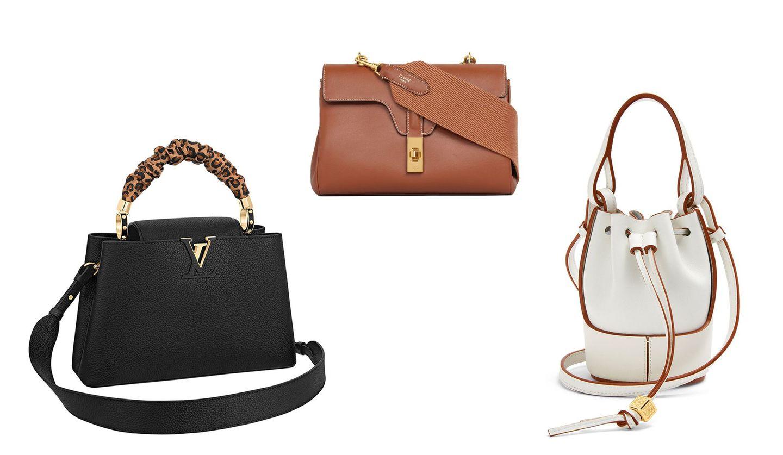 ルイ・ヴィトン、セリーヌ、ロエベの新作バッグの写真。