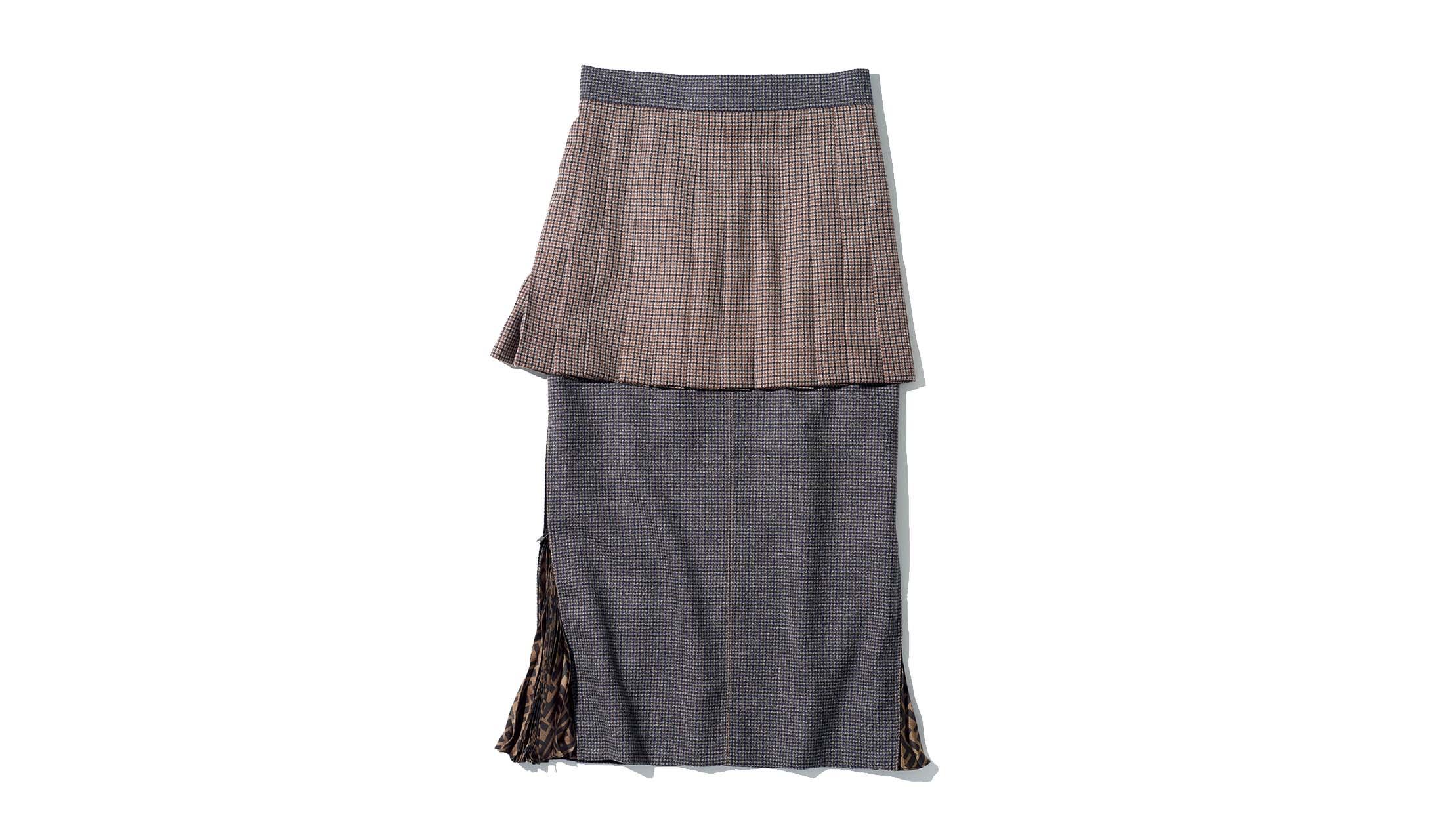 フェンディのレイヤードスカート