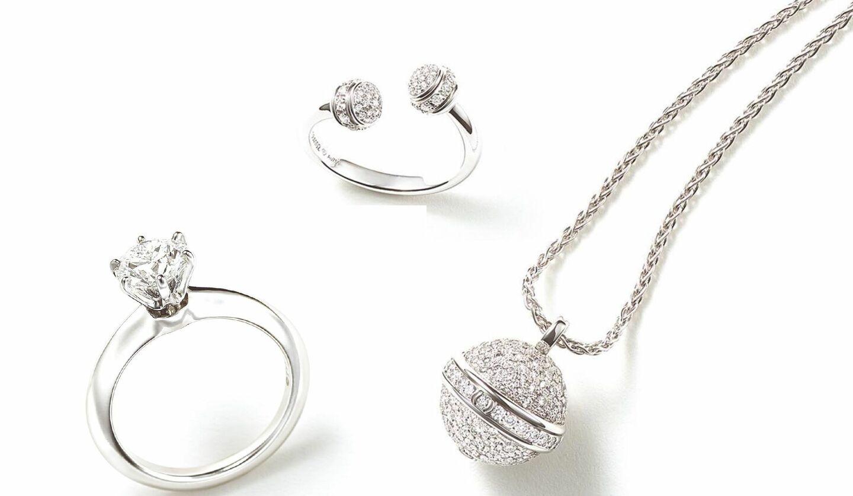 ピアジェのダイヤモンドの指輪とネックレス