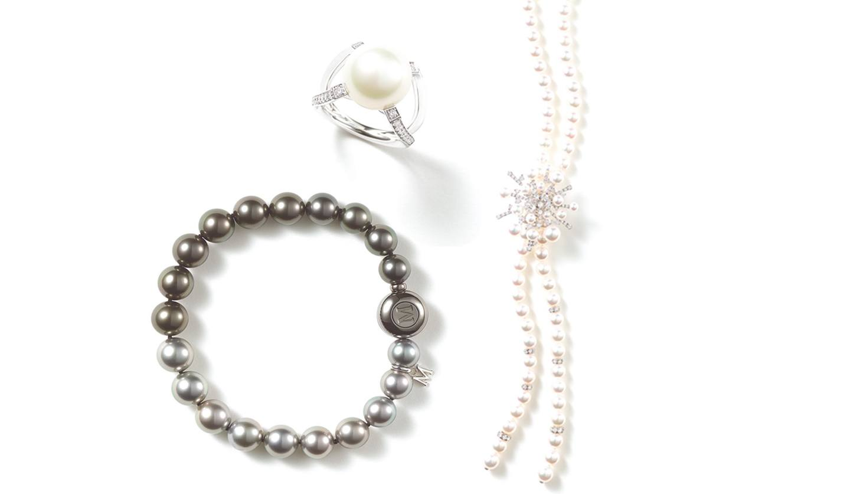 ミキモトの指輪、ネックレス、ブレスレット