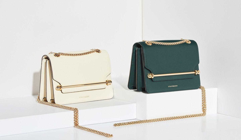 ストラスベリーのハンドバッグ「イースト/ウエストミニ」