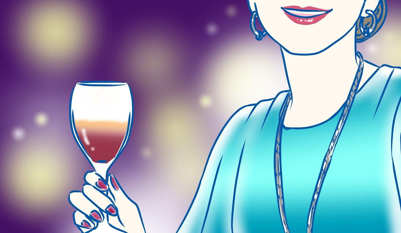 パーティー 女性のイラスト