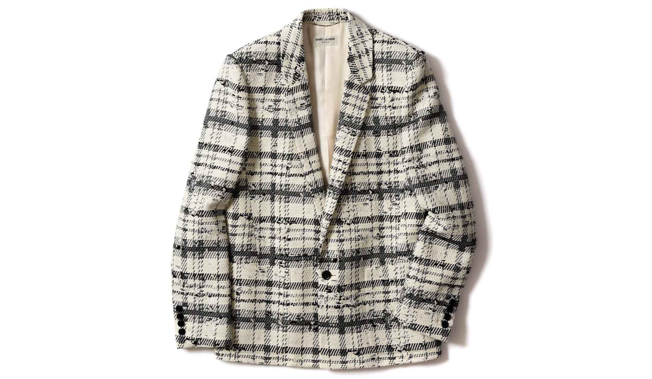 サンローランのツイードジャケット