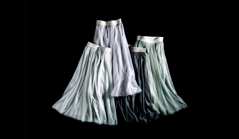 ファビアナフィリッピのネイビーチュールスカート