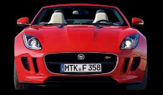 赤い車、ジャガーFタイプ V8 S