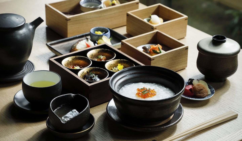 「アマン京都」の朝食、豆乳粥