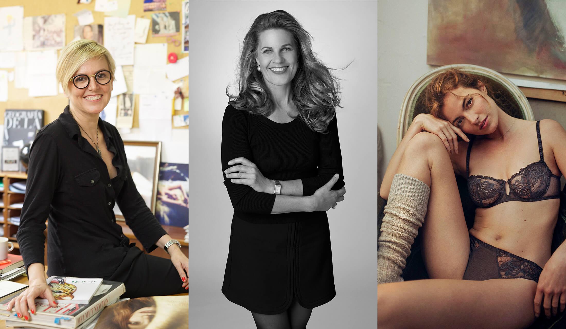 下着業界の著名な3人の女性たちの写真