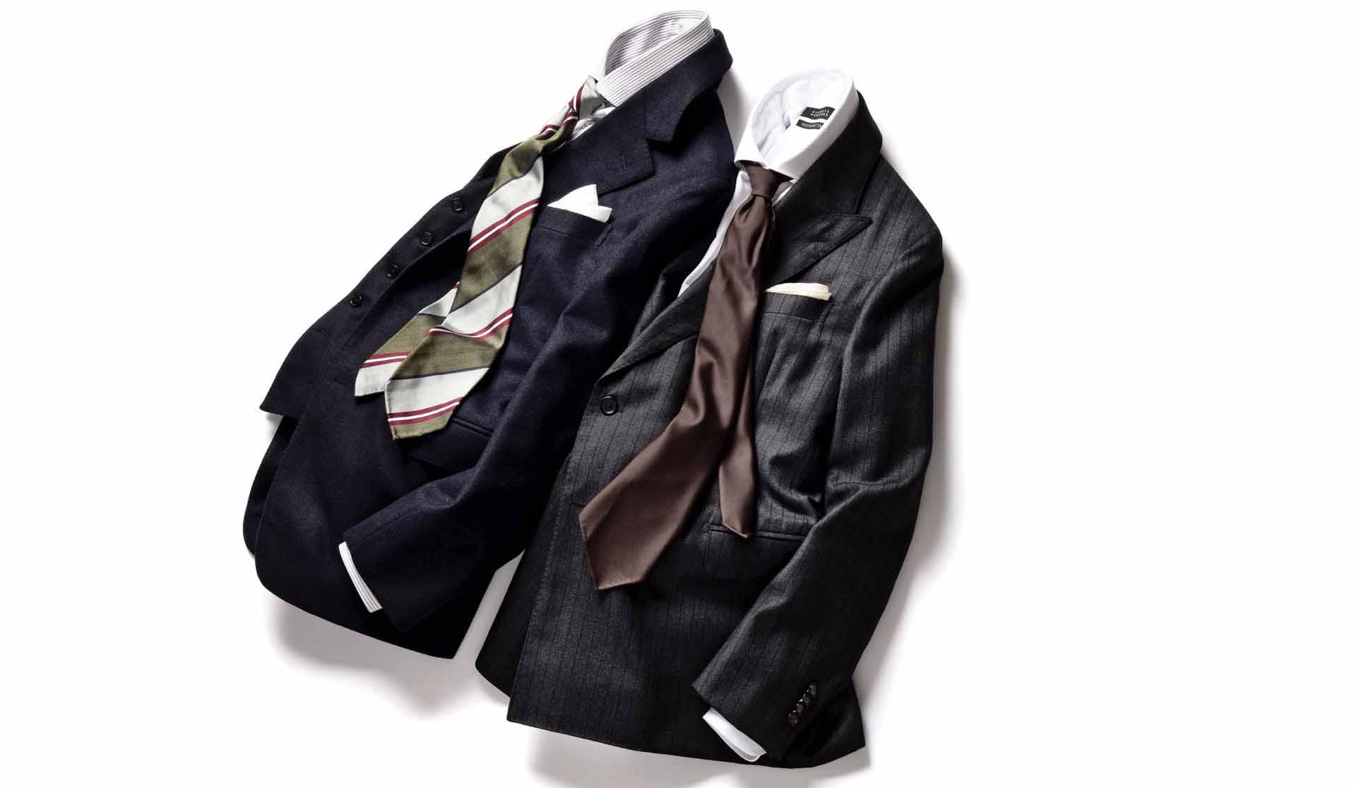 バーニーズ ニューヨークのスリーピーススーツ、ダブルブレストスーツ