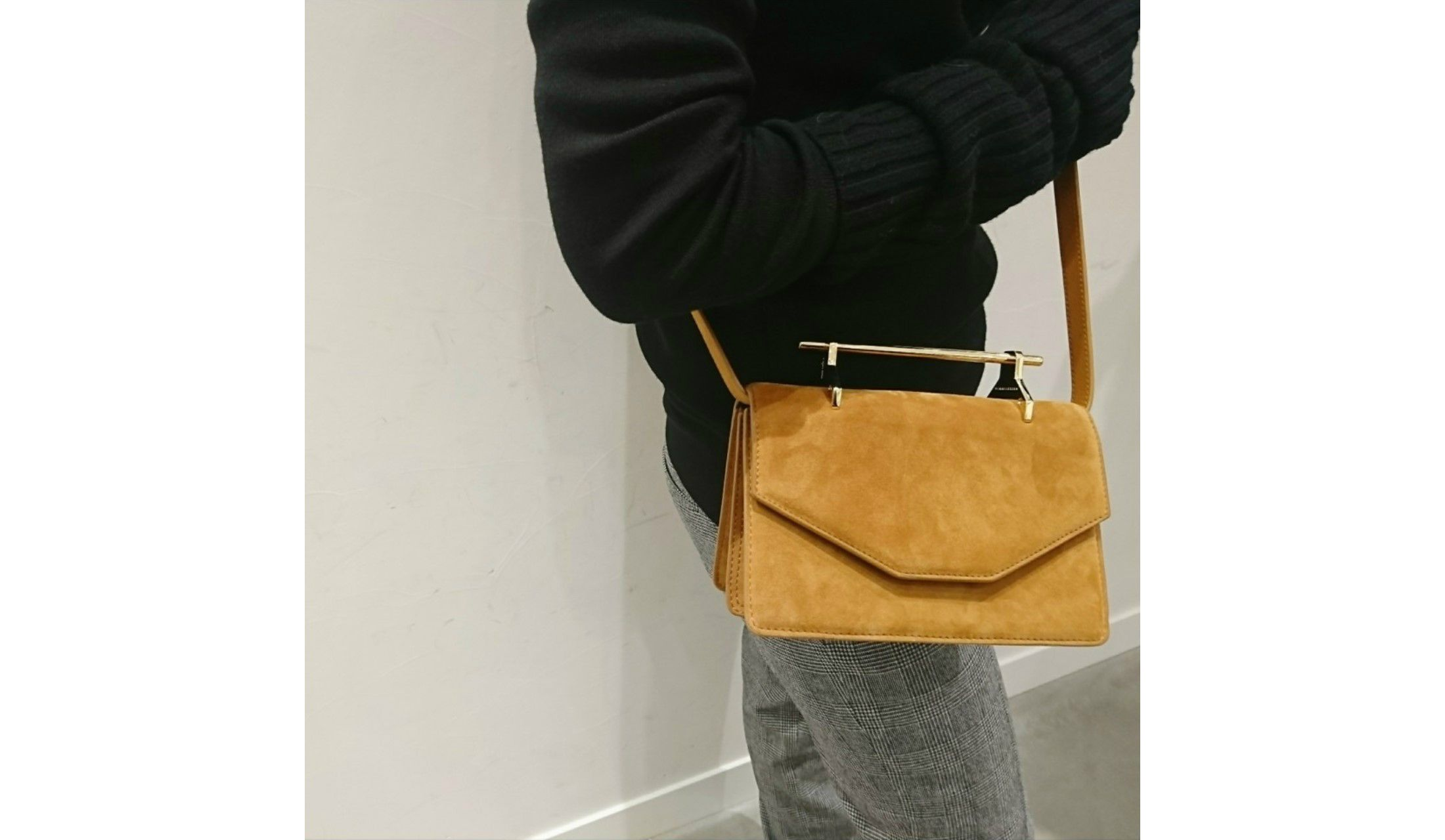 M2MALLETIER SUEDE CROSSBODY