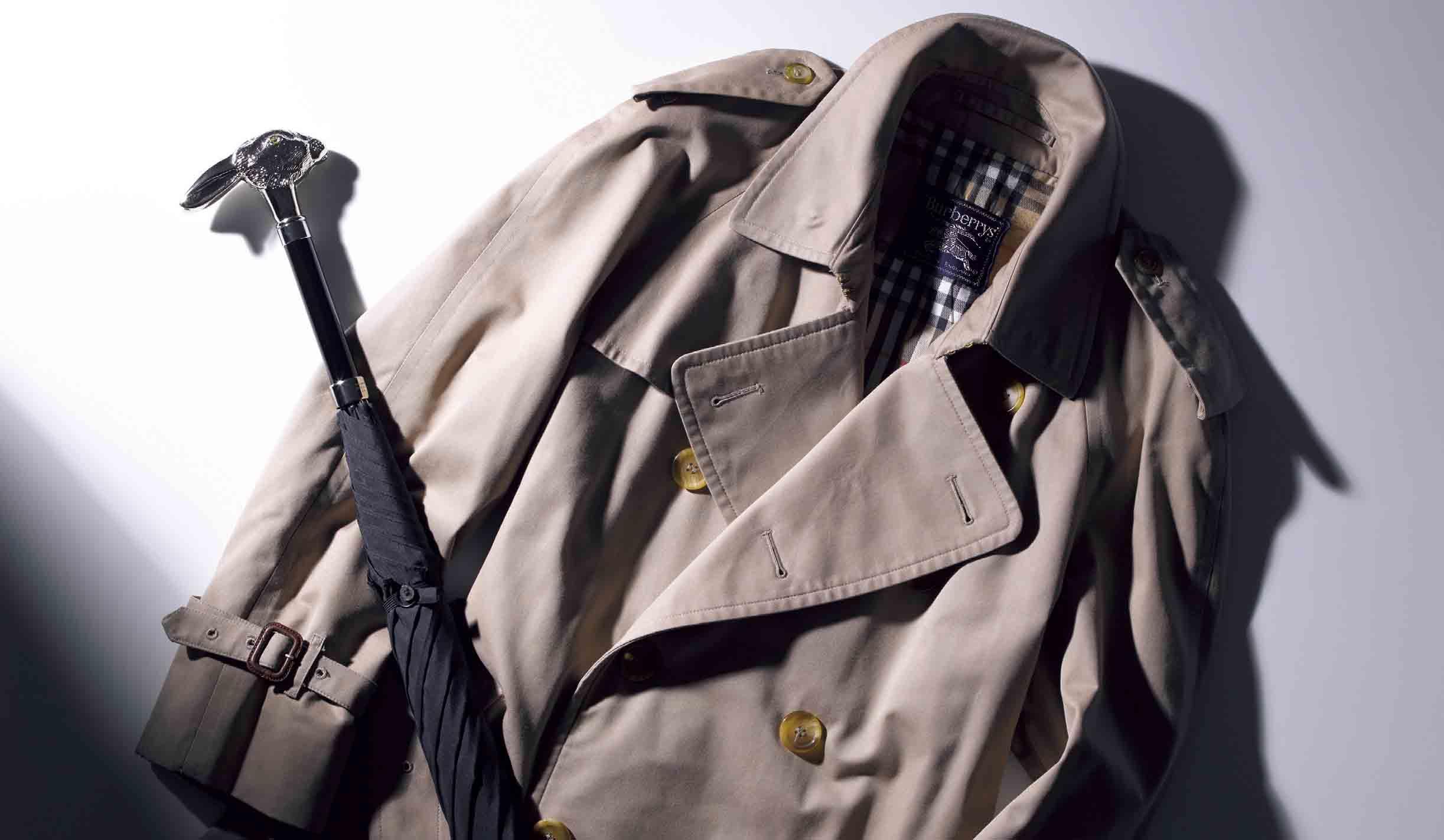 バーバリーのコート、フォックスアンブレラの傘