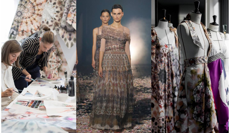Dior(ディオール)の2019年春夏コレクションのランウェイと制作過程の写真