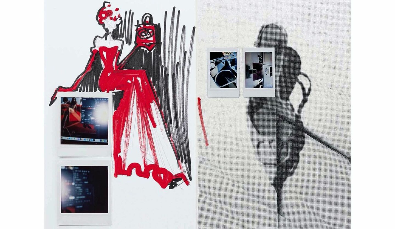 ヴァレンティノのアートブック『Vロゴ シグネチャー ブック』の一部ページ