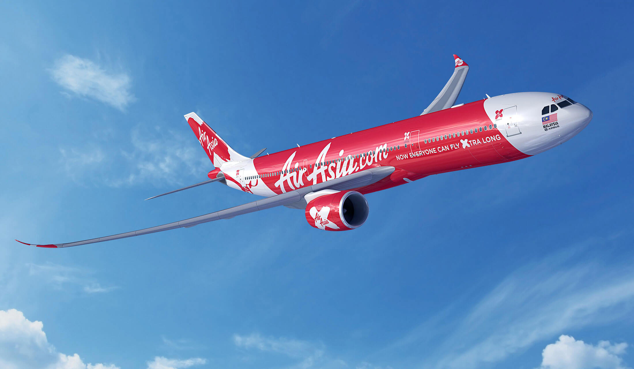 インドネシア・エアアジアXの機体
