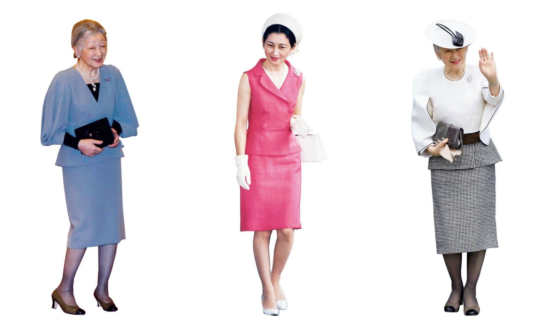 皇后美智子さまの装い3つ