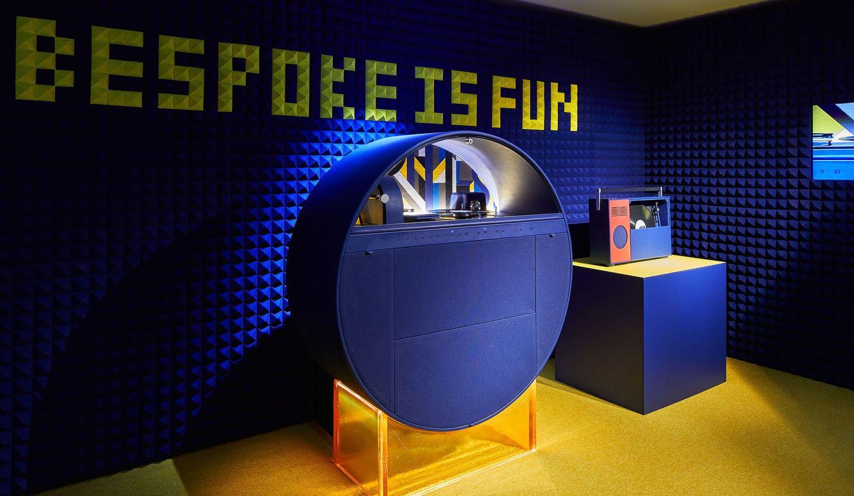 Hermès(エルメス)の展覧会「夢のかたち Hermès Bespoke Objects」で展示されているジュークボックス