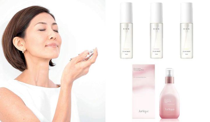 乾燥対策や化粧直しに効果的な使い方から、おすすめのデパコスミスト化粧水まとめ