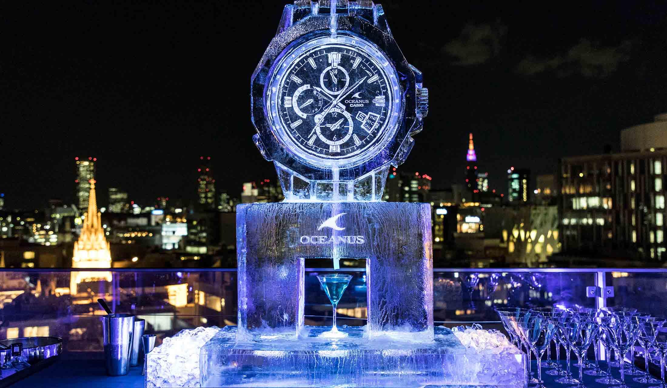カシオの腕時計 オシアナスのパーティ風景
