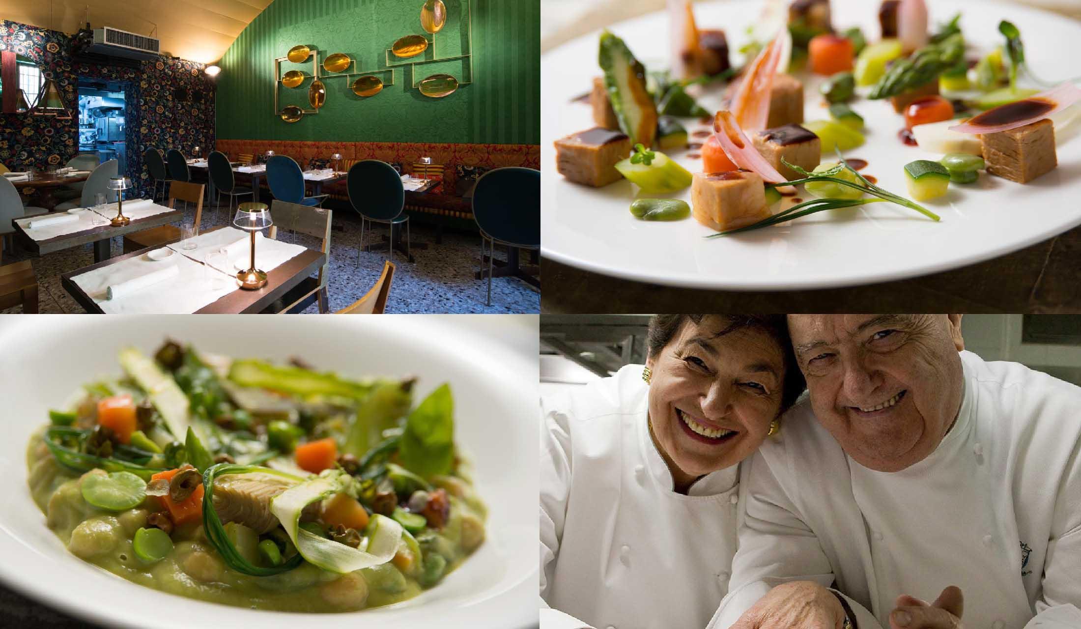 アイモ・エ・ナディアの店内と料理と、モローニ夫妻