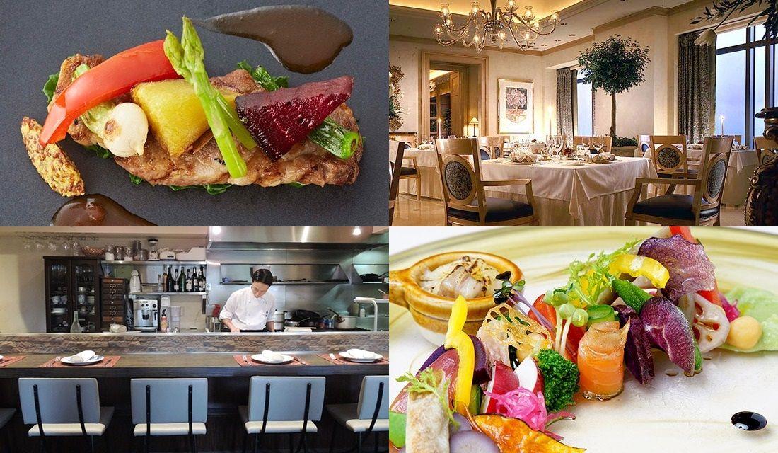 大阪・梅田のフレンチレストランの料理や内観写真4枚