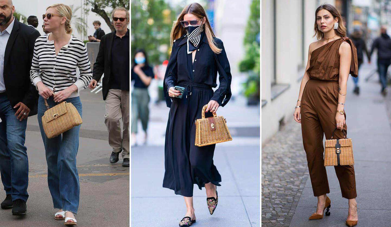 ハンドバッグ型かごを持っていたキルスティン・ダンスト、オリビア・パレルモ、マーシャ・セジウィック