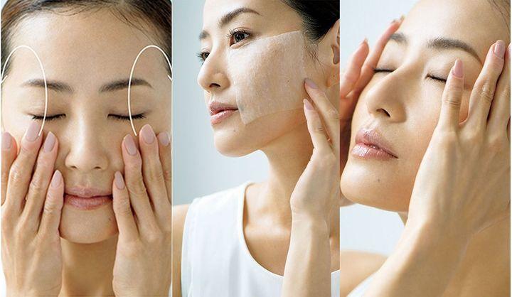 化粧水のつけ方ステップ