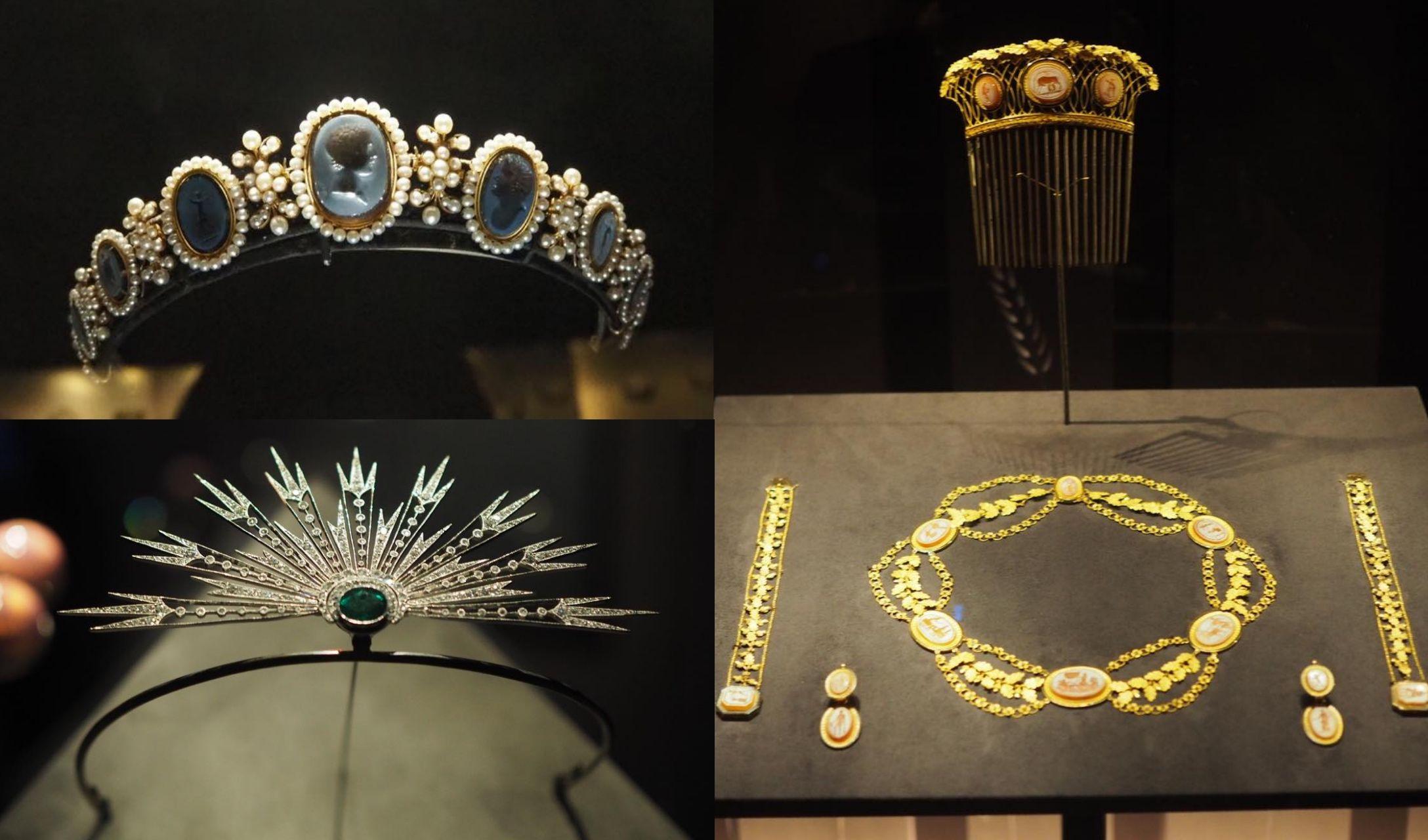 「ショーメ 時空を超える宝飾芸術の世界」で展示されているジュエリー