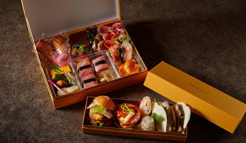 ウェスティンホテル東京が展開する「ウェスティン プレミアム テイクアウト ボックス」のトレゾアとフィナンシェ