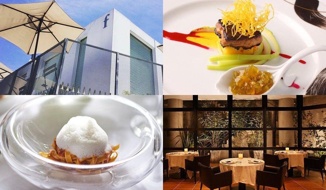 レストランの内観外観、料理の写真合計4枚を組み合わせた写真