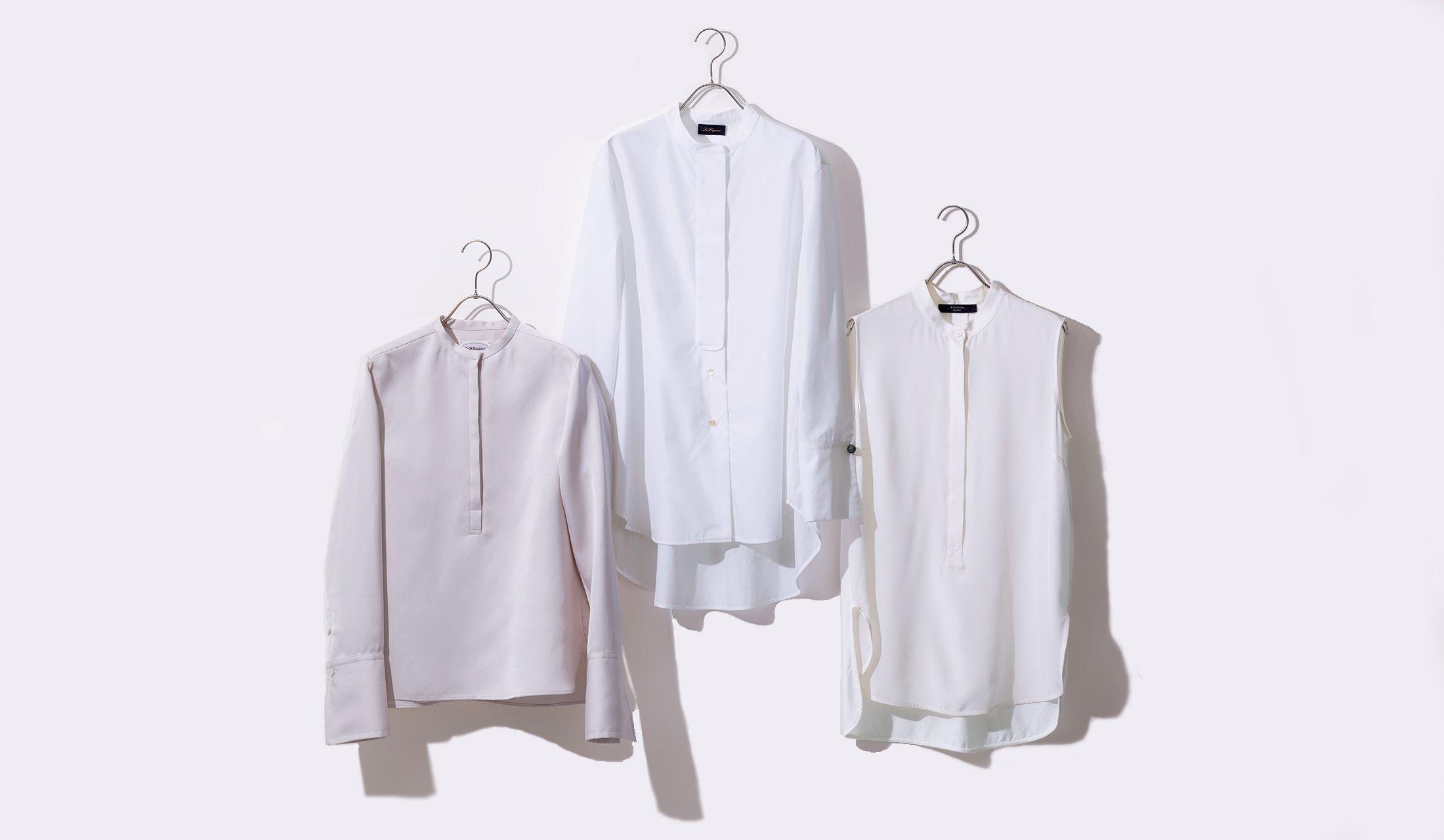 マックスマーラ、レ・コパン、J&M デヴィッドソンのバンドカラーシャツ