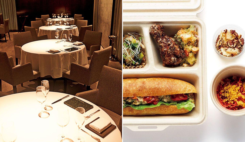 ミシュラン三つ星レストラン「カンテサンス」の内観と、お弁当