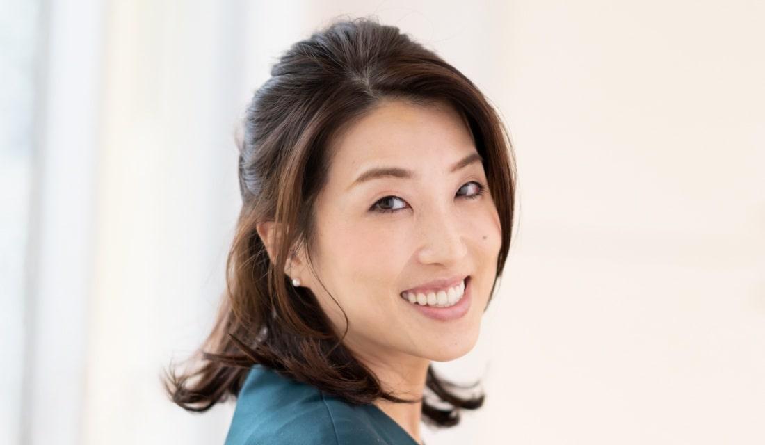 角恵子さん(38歳/会社員)のハーフアップ