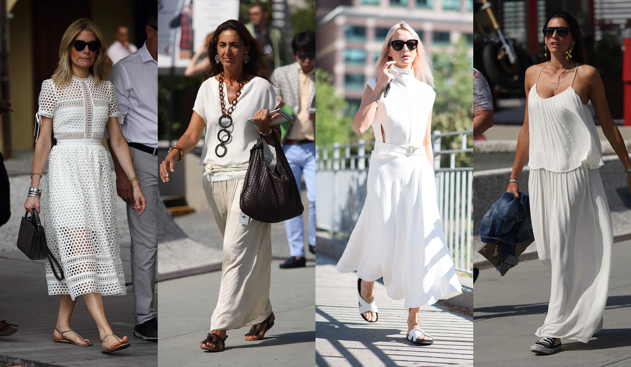 夏にぴったりな全身白コーデの着こなし