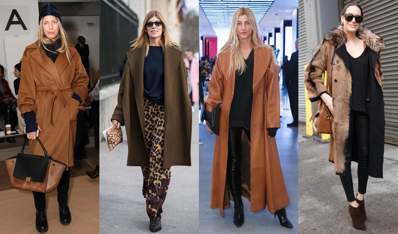 ブラウンコートを着こなした女性のスタイリング4つ