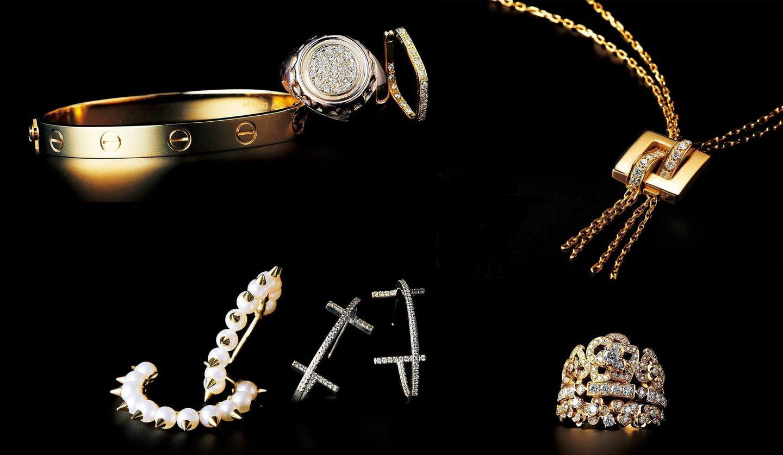ブシュロンのネックレスとブリジャールのブレスレット・リング