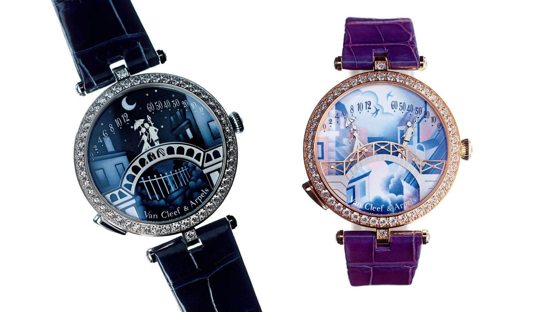 ヴァン クリーフ&アーペルの時計「レディ アーペル ポンデ ザムルー ウォッチ」と「レディ アーペル ポン デ ザムルー ジュール ウォッチ」
