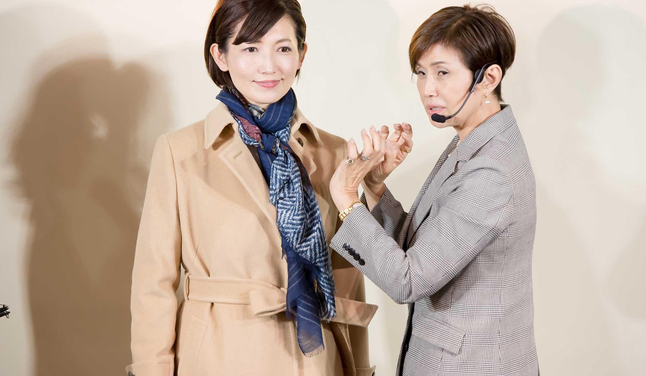 ポール・スチュアート×Precious.jp読者イベントの様子。ゲストの白木夏子さん