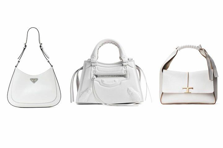 バレンシアガ・トッズ・プラダのピュアホワイトなバッグ