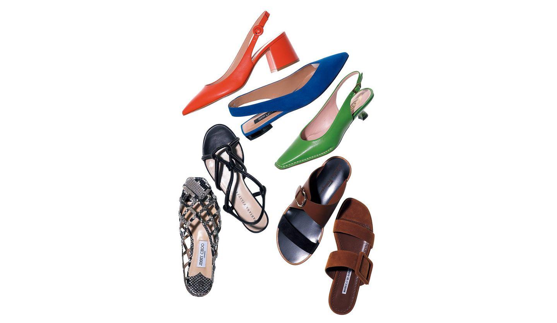 ジャンヴィト ロッシ、セルジオ ロッシ、トッズの「きれい色」靴&ジミーチュウ、ファビアナフィリッピ、サルヴァトーレ フェラガモ、マノロ ブラニクの「フラット」靴