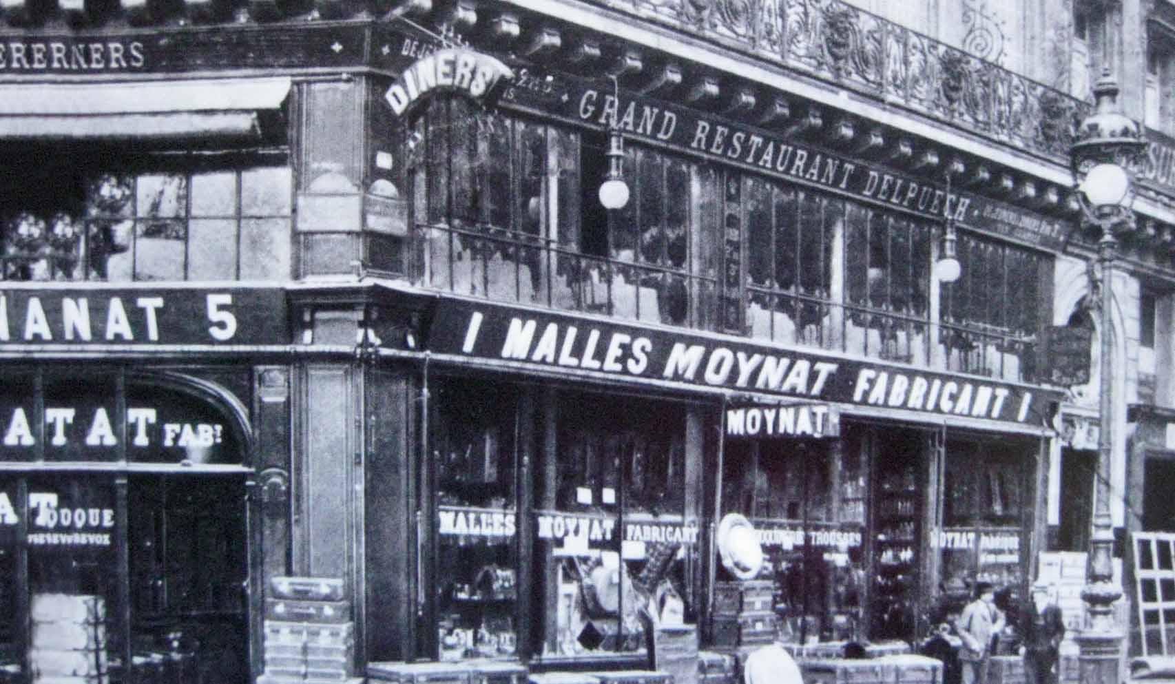 1849年創業当時のモワナの店舗