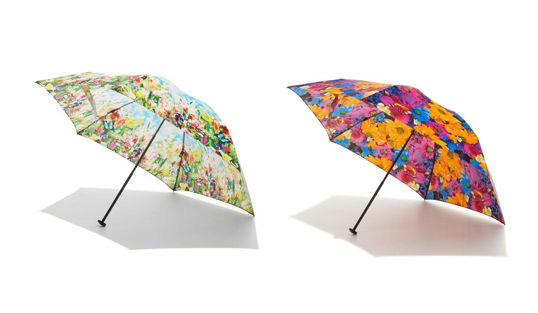 ディーベックと蜷川実花氏とコレボレーションした折りたたみ傘「カーボ ンテクノロジーコンパクトアンブレラ」
