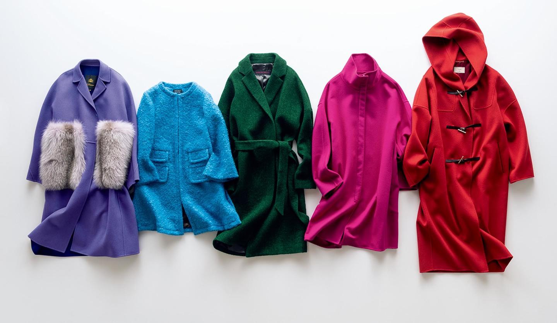 着映え力抜群の鮮やか色コート5着